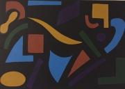 tableau abstrait malaise forme couleur : Malaise