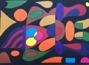 tableau abstrait incas formes couleurs : Incas