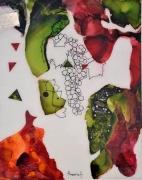 tableau nature morte gout couleurs vin vitrail : Le goût du vin