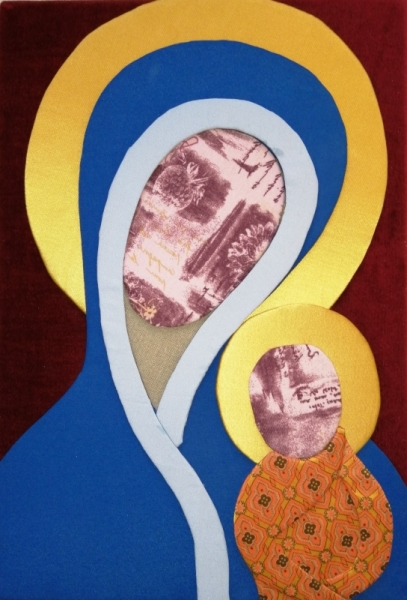 AUTRES vierge enfant tissu Personnages  - Vierge à l'enfant