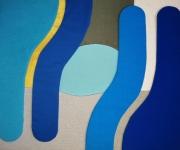 autres abstrait tissu bleu abstrait : Voir plus loin