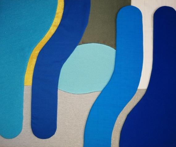 AUTRES tissu bleu abstrait Abstrait  - Voir plus loin