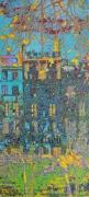 tableau villes maison paris bleue : LA MAISON BLEUE