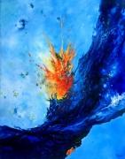 tableau abstrait abstraction lyrique abstrait lyrique peinture abstraite paysage abstrait : Eclosion