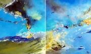 tableau abstrait abstraction lyrique abstrait lyrique peinture abstraite paysage abstrait : Tolérance