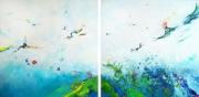 tableau abstrait abstrait lyrique abstraction lyrique peinture abstraite paysage abstrait : Le bruit blanc des courants d'air