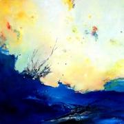 tableau abstrait abstraction lyrique abstrait lyrique peinture abstraite paysage abstrait : A wild place
