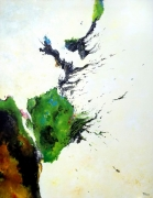tableau abstrait abstraction lyrique abstrait lyrique peinture abstraite paysage abstrait : La fleur d'espoir et de rupture