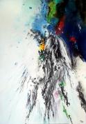 tableau abstrait abstraction lyrique abstrait lyrique peinture abstraite paysage abstrait : L'indifférence des lucioles