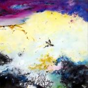 tableau abstrait abstraction lyrique abstrait lyrique peinture abstraite paysage abstrait : Les temps perdus