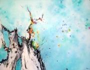 tableau abstrait abstraction lyrique abstrait lyrique peinture abstraite paysage abstrait : Résurrection ou palingénésie