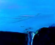 tableau paysages bleu abstrait abstraction lyrique expressionisme abstrait : Contemplation opus V