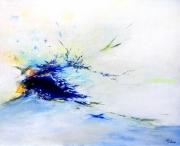 tableau abstrait abstraction lyrique abstrait lyrique peinture abstraite paysage abstrait : Contemplation opus IV
