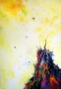 tableau abstrait abstraction lyrique abstrait lyrique peinture abstraite paysage abstrait : Incarnation