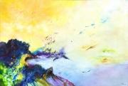 tableau abstrait abstraction lyrique abstrait lyrique peinture abstraite paysage abstrait : Entre le mort et la naissance