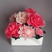 artisanat dart fleurs porcelaine froide rose art floral fleurs : La Vie en Rose