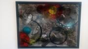 tableau abstrait sombre boule couleur cercle : L'autre côté