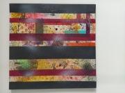 tableau abstrait rayures confinement multicolore barreaux : Stripes