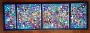 tableau abstrait confettis multicolore taches colore : Carnaval