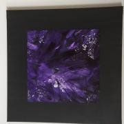 tableau abstrait violet encadre velvet noir : Ultraviolet