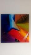 tableau abstrait rouge graphique abstrait multicolore : Glam