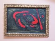 tableau abstrait : le roge et le noir