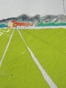 tableau paysages paysage chapelle sentier plastique : 0001.HAMEAU MONTGRIS