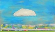 tableau paysages paysage ciel nuage nuage blanc : SOUS LE NUAGE BLANC