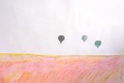 tableau paysages paysage ciel ballon matin : 0008.MATIN BALLON