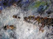 tableau marine bretagne marine tempete : la maison dans la tempéte