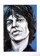 tableau personnages rock pop musique rolling stones : Mike Jagger