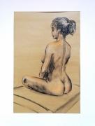 dessin nus modele vivant nu yoga femme : yoga