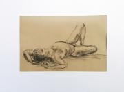 dessin nus modele vivant nu homme zen : la détente