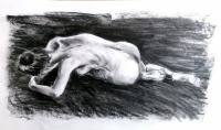 femme de dos couchée
