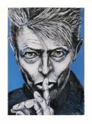 tableau personnages pop musique bowie portrait : David Bowie