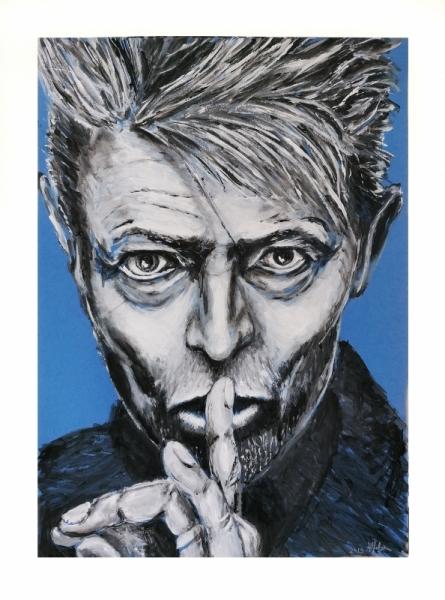 TABLEAU PEINTURE Pop Musique Bowie portrait Personnages Acrylique  - David Bowie