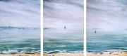 tableau paysages paysage abstrait impressionisme mer ambiance marine baie de bourgneuf : paysage mer huile. vendu