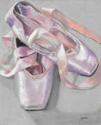 dessin nature morte ballerines danse chaussures pointes : Danse