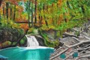 dessin paysages cascade puzzle deforestation nature : Puzzling