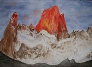 tableau paysages montagne patagonie paysage neige : Fitz Roy