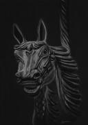 dessin animaux spectre cheval manege fantome : Le spectre des chevaux de bois
