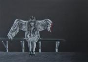 dessin personnages femme aile douleur blessure : Broken wing