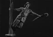 dessin personnages chanter film parapluie lampadaire : Singin' in the rain