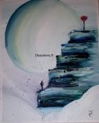 tableau autres acrylique peinture tableau reve : If I was a diamond heart
