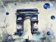 tableau autres bleu aquarelle triomphe : Juste un chemin pour triompher