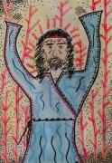 dessin personnages biblique prophete foret religieux : L'heure sombre du prophète