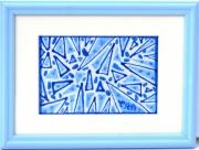 tableau abstrait figures geometriques : Etincelles