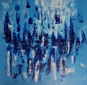 tableau abstrait art abstrait abstract blue art peinture abstraite peintre francais : Blues 2019