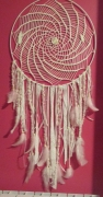 artisanat dart dentelle plumes coton perles : rose