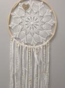 artisanat dart crochet coton perles dentelle : coeur